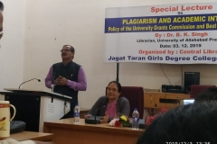 Lecture on Plagiarism by Library of the College